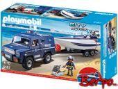 Playmobil 5187 City Action - Policyjny Jeep z motorówką