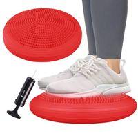 Poduszka sensoryczna pro dysk do ćwiczeń czerwona