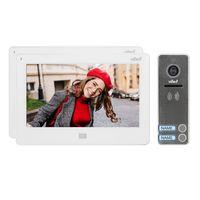 Zestaw wideodomofonowy 2-rodzinny, bezsłuchawk. kolor, LCD 7, dotykowy, menu OSD, pamięć, gniazdo na kartę SD,OR-VID-EX-1064/W