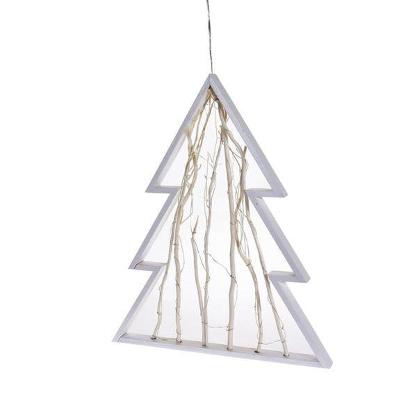 Choinka świąteczna drewniana LED zdjęcie 1