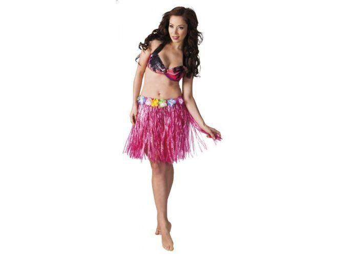 Spódnica hawajska 45 cm różowa zdjęcie 1