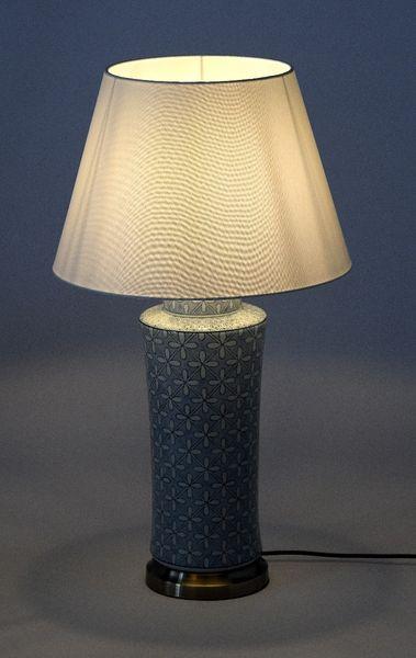 Lampa stołowa z abażurem Anabel 18x18x51cm zdjęcie 4