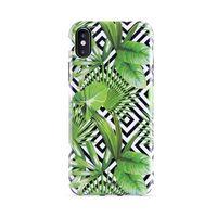 PURO Glam Tropical Leaves - Etui iPhone Xs / X (Geometric Jungle)