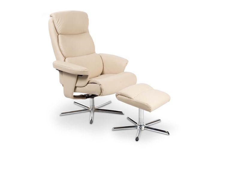 Ogromny MAYER HALMAR Wypoczynkowy fotel OBROTOWY rozkładany z podnóżkiem EE41