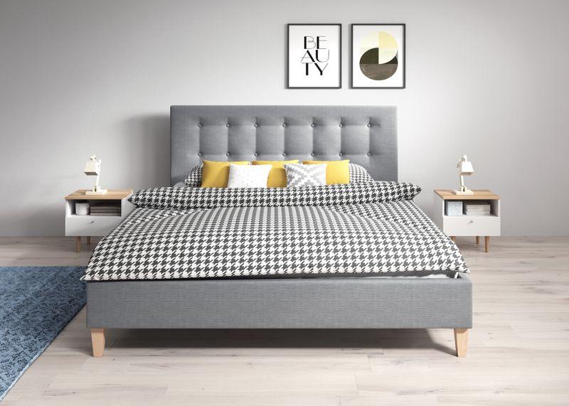 Łóżko tapicerowane DAWID 160X200 + STELAŻ+MATERAC zdjęcie 12