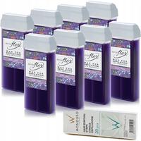 8 x ItalWax Flex Wine (Wino) wysokoplastyczny transparentny wosk z dwutlenkiem tytanu do depilacji w rolce 100ml do depilacji dużych obszarów owłosienia + paski GRATIS