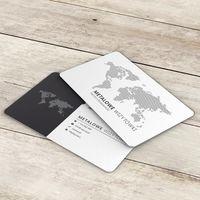 Metalowe wizytówki - 10 szt.