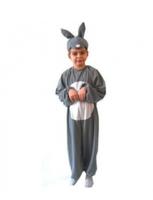 Strój Królik 134-140 cm - szary kostium dla dzieci