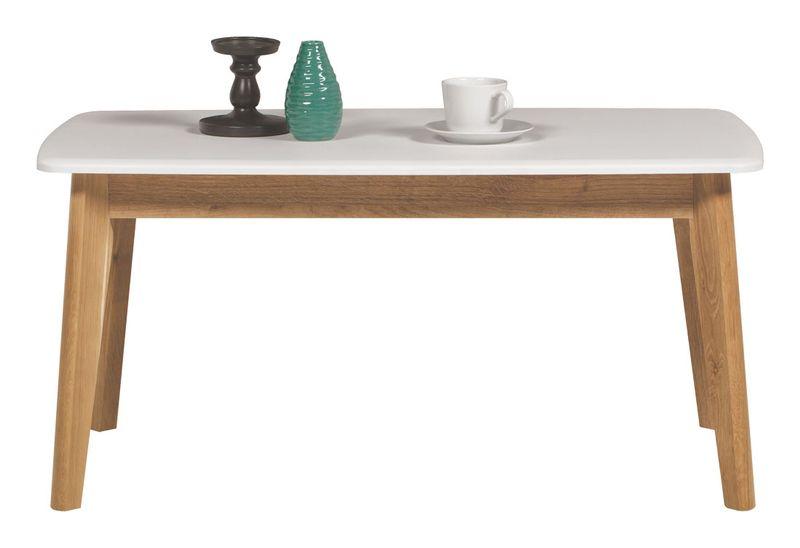 Skandynawski biały stolik kawowy Nordic zdjęcie 1
