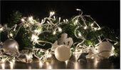 Lampki dekoracyjne choinkowe 100 LED ciepłe białe z programatorem na łańcuchu zdjęcie 5