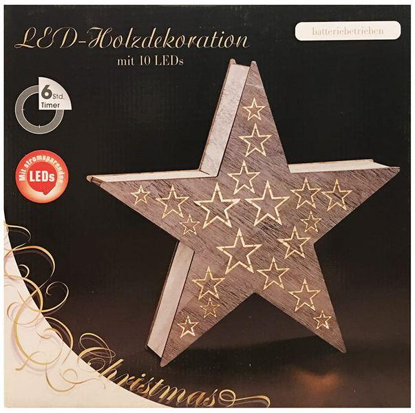 Ozdoba drewniana gwiazda LED 1j 35cm zdjęcie 4