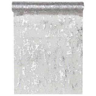 "Bieżnik ""Błyszczący, srebrny"", SANTEX, 500 x 28 cm"