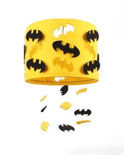 Lampa filcowa BATMAN żółta z czarnymi batmanami