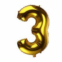 BALON foliowy 3 CYFRA 0-9 złota ogromna 100cm urodziny