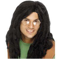 PERUKA dredy jak BOB MARLEY czarne włosy długie