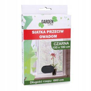 Moskitiera do okna siatka CZARNA 180 x 150 cm