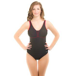 Kostium pływacki MATYLDA Rozmiar - Stroje damskie - 48(4XL), Kolor - Stroje damskie - Matylda - 16 - czarny / czerwony