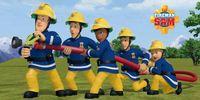 Ręcznik dziecięcy 70x140 Kąpielowy Plażowy Strażak Sam Fireman