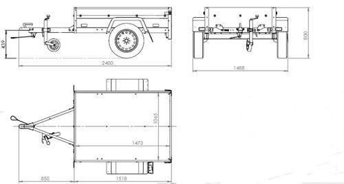 Przyczepa samochodowa lekka 150 x 106 z plandeką i stelażem DMC 750 KG na Arena.pl