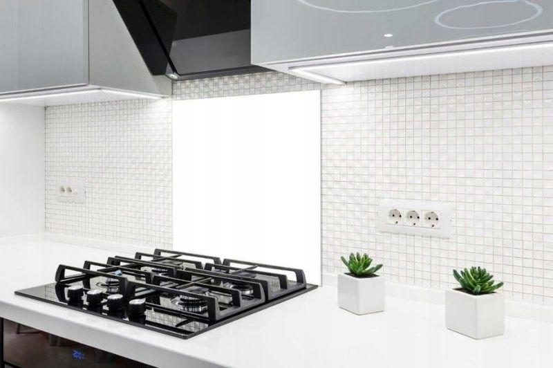 Panel Szklany Laminowany Do Kuchni Biały 60x65x16cm