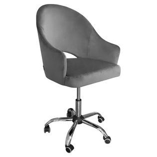 Fotel obrotowy GODA / ciemny szary / noga chrom / BL14