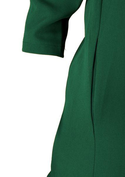 f8f7aaaa2a Sukienka trapezowa z efektowną falbaną i kieszeniami- butelka Rozmiar - 36  zdjęcie 4