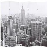 Składany Parawan, 200X170 Cm, Nowy Jork Za Dnia, Czarno-Biały
