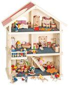 Goki, drewniany Domek dla lalek 3 piętrowy . HIT SPRZEDAŻY