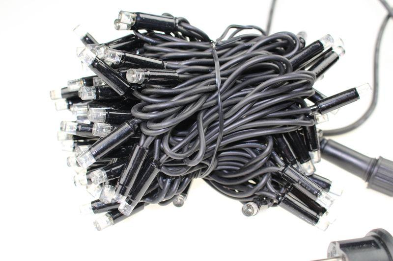 Zewnętrzny łańcuch, sznur na grubym kablu 100LED Niebieski zdjęcie 2