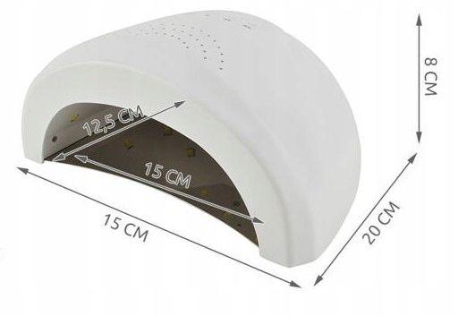 Mocna Lampa UV Dual LED Żele Hybrydy 48W SUNshine zdjęcie 14