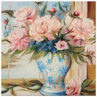 OBRAZ DRUKOWANY  Kwiaty w wazonie 40x40