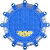 Lampa ostrzegawcza błyskowa 12+3 LED flara kogut dysk latarka 3xAAA N