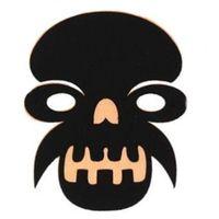 Maska filcowa HALLOWEEN czacha czaszka czarna