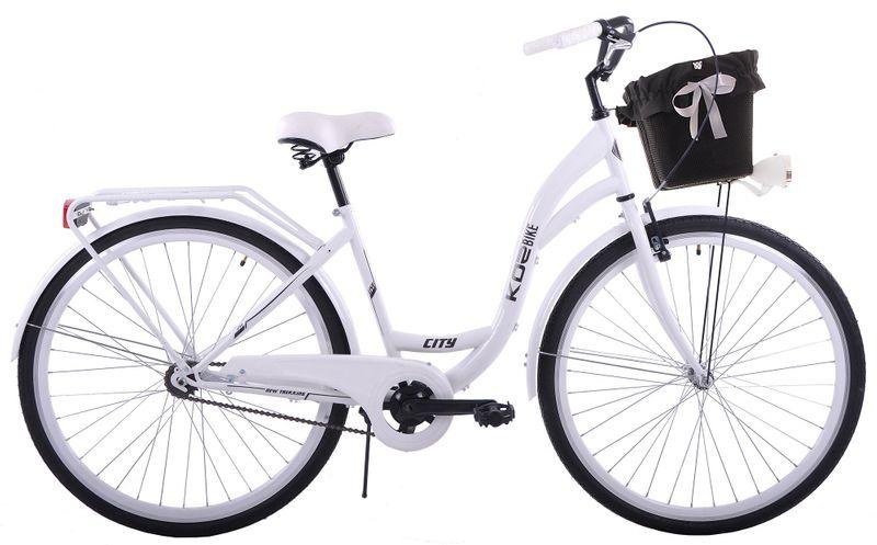 (K25) Rower miejski damski Kozbike 28 biały na Arena.pl