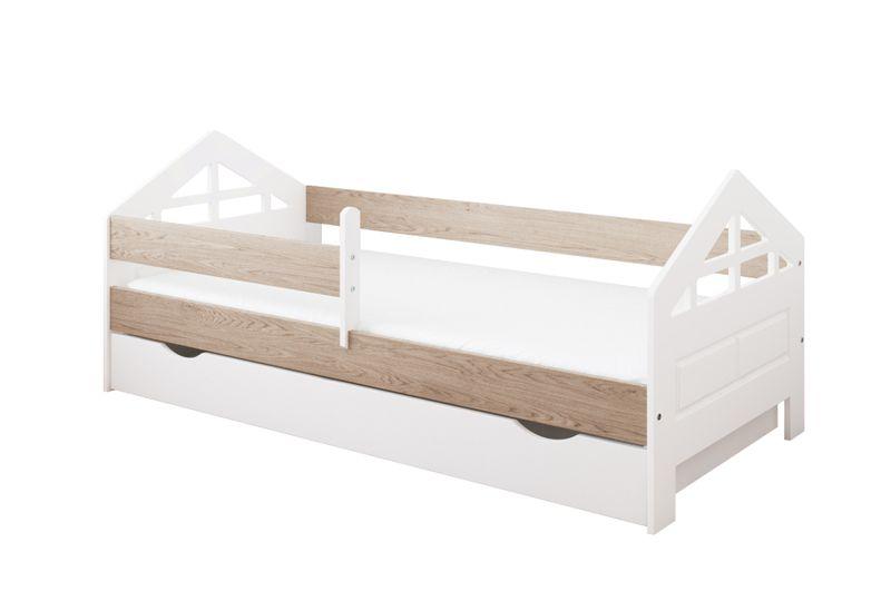 łóżko Ala 180 X 80 Szuflada Barierka Ochronna Materac Gratis