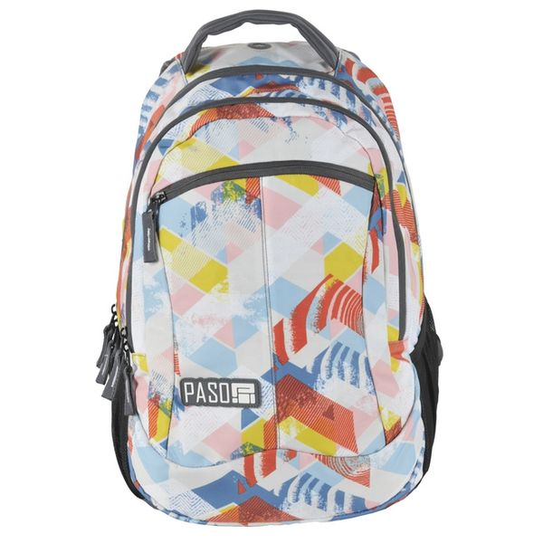 992920403a842 Plecak szkolny, młodzieżowy wycieczkowy DIRECTION, granatowy w grochy PASO  (172808UG) zdjęcie 1 ...