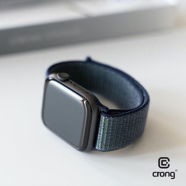 Crong Nylon Band - Pasek sportowy do Apple Watch 38/40 mm (Midnight Fog) na Arena.pl