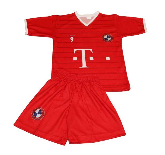 288db0fd9a97bd 146 zdjęcie 2 Komplet stroju piłkarskiego Replika Lewandowski 9 BayernM - r.