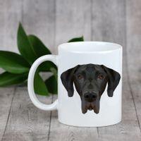 Enjoying a cup with my pup Dog niemiecki - kubek z geometrycznym psem