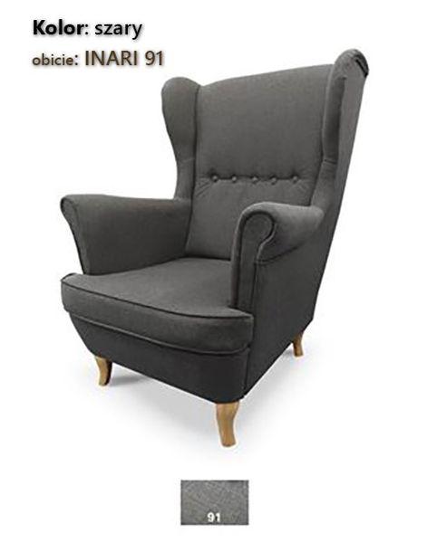 Fotel Uszak Skandynawski - stylowy design zdjęcie 8