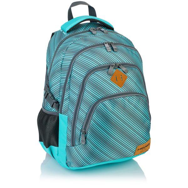Plecak szkolny młodzieżowy Astra Head HD-72, miętowy w szare paski zdjęcie 1