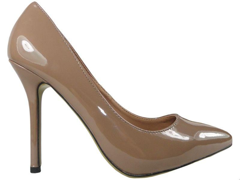 Szpilki damskie khaki jasny brąz zgrabne buty 41 zdjęcie 1