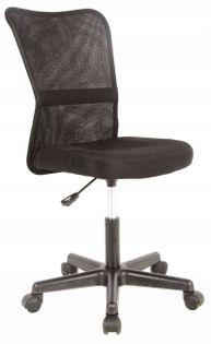 Fotel do biurka Q-121 młodzieżowy CZARNY obrotowy