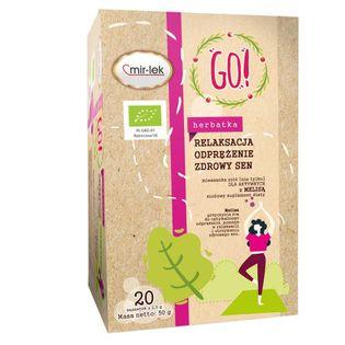 Herbatka Go! Relaksacja, Odprężeniee, Regeneracja Mir-Lek Bio, 20 Saszetek X 2,5G