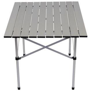 Stolik turystyczny aluminiowy składany 58 x 58 cm