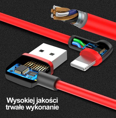 UNITEK ORYGINALNY KĄTOWY KABEL LIGHTNING iPhone 5s SE 6S 7 8 X IPAD na Arena.pl