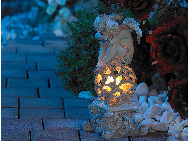 Lampa ogrodowa solarna śpiący anioł/rzeźba | Lunartec zdjęcie 3