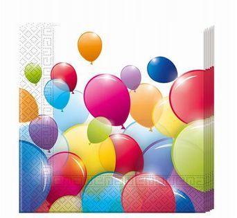 Serwetki baloniki na URODZINY ROCZEK 33x33cm 20szt