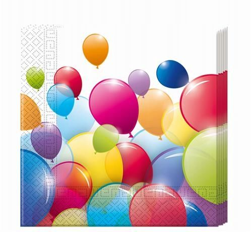 Serwetki baloniki na URODZINY ROCZEK 33x33cm 20szt na Arena.pl