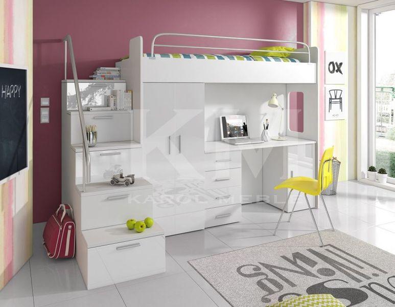 łóżko Piętrowe Dla Dzieci Meble Młodzieżowe Antresola Raj 4s